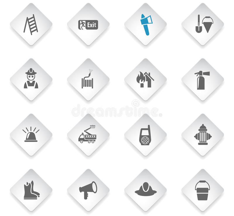 fire brigade icon set vector illustration