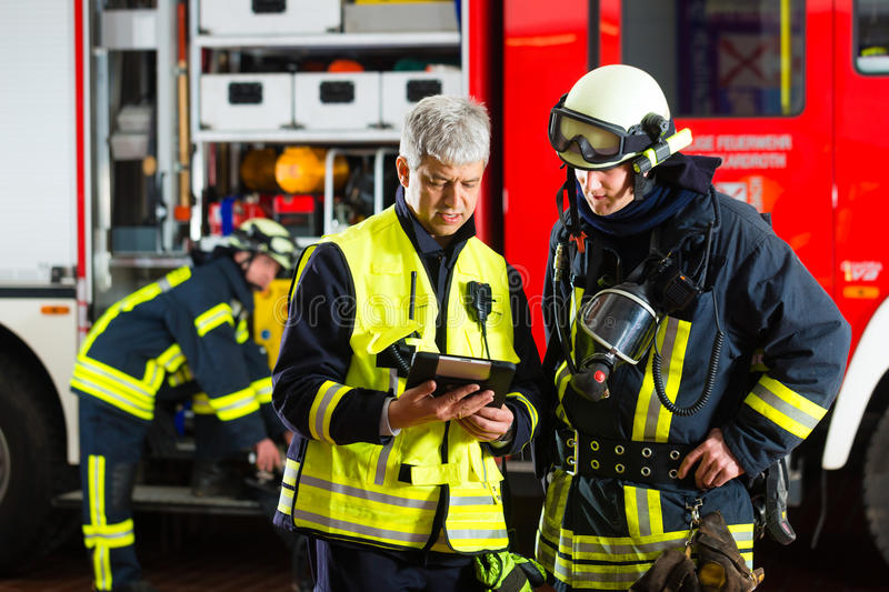 Fire brigade deployment planning stock photography