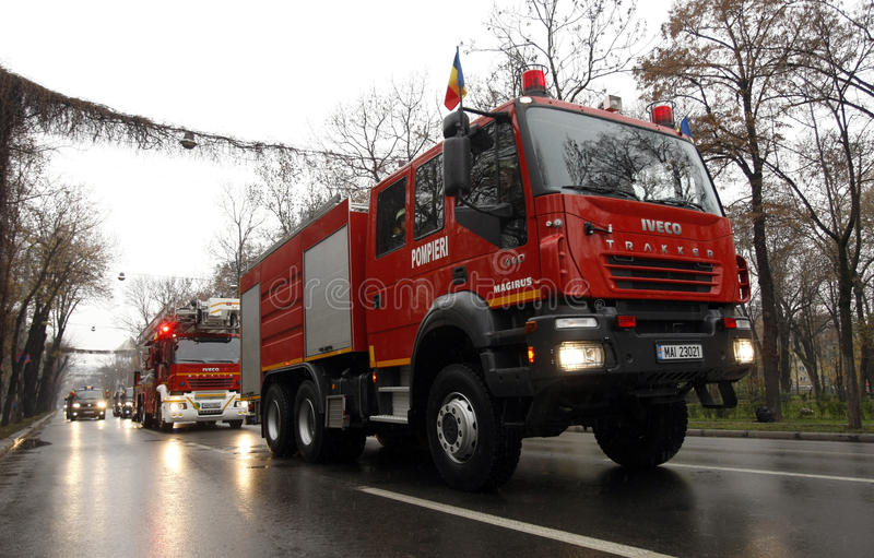 Download Fire brigade trucks editorial stock photo. Image of forces - 27314158