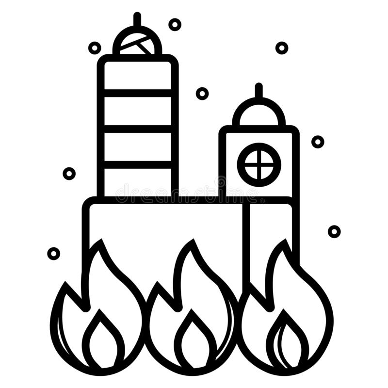 Fire building icon vector. Illustration vector illustration