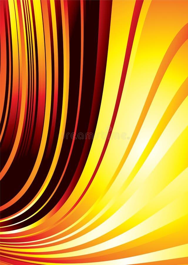 Download Fire burn rush stock vector. Image of stripes, orange - 6151444