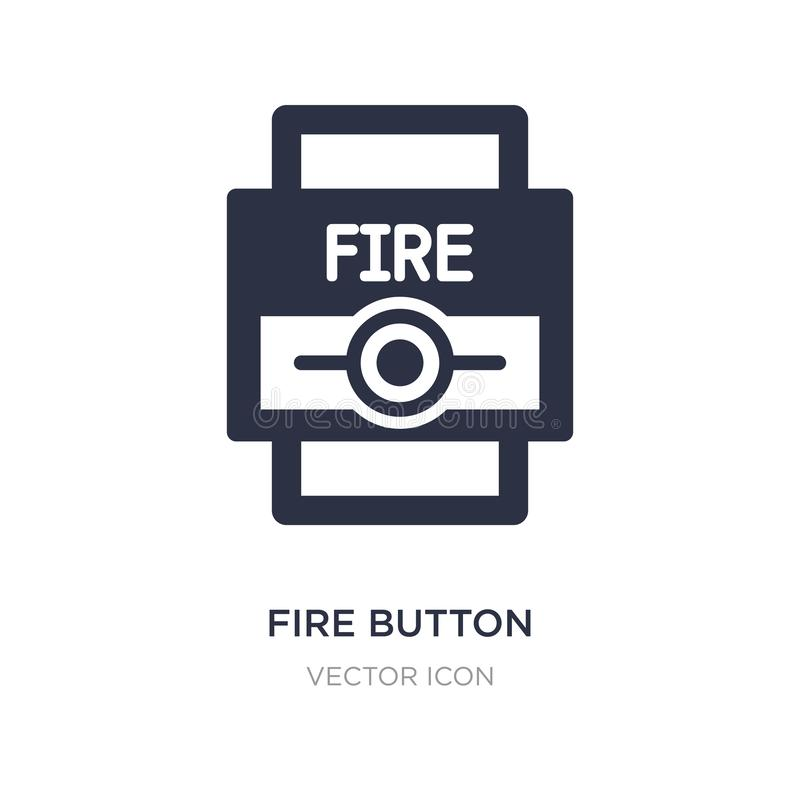 Fire button icon on white background. Simple element illustration from Alert concept. Fire button sign icon symbol design vector illustration