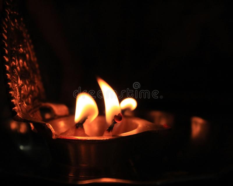 Fire candle royalty free stock images