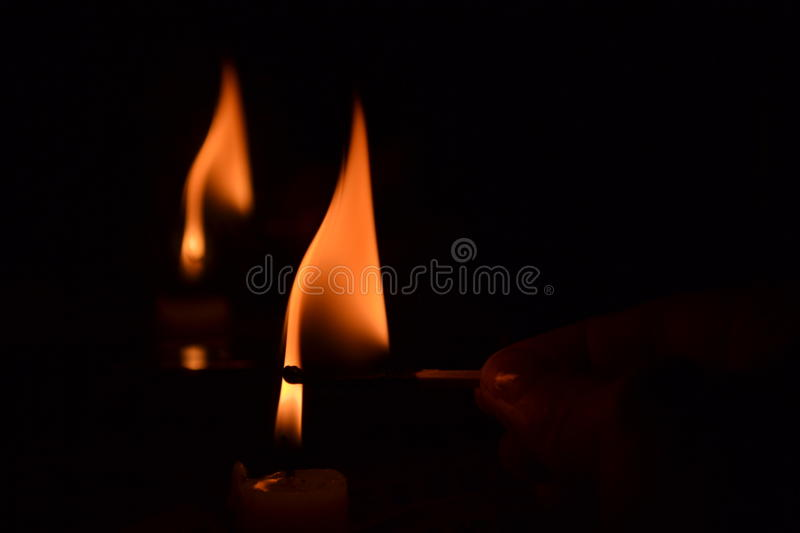 Fire from candle royalty free stock photos