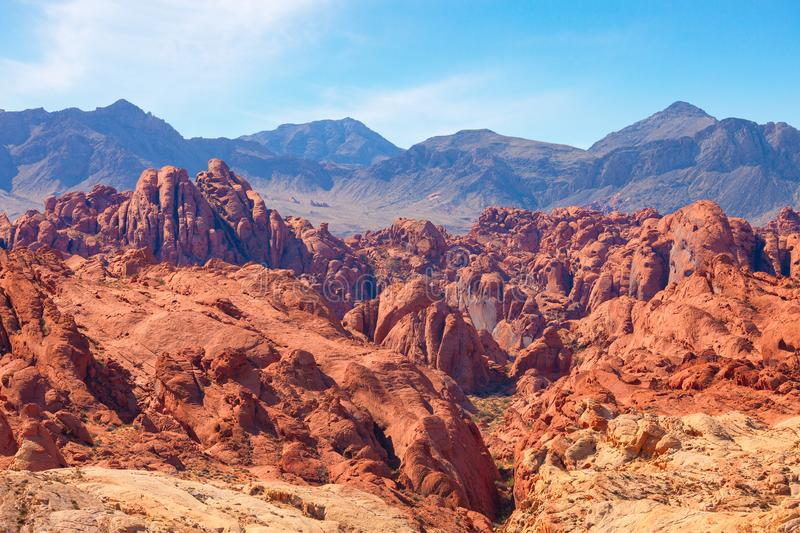 Fire Canyon in the Valley of Fire State Park, Nevada, United States.  stock image