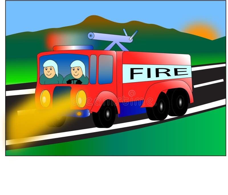 Fire car vector illustration