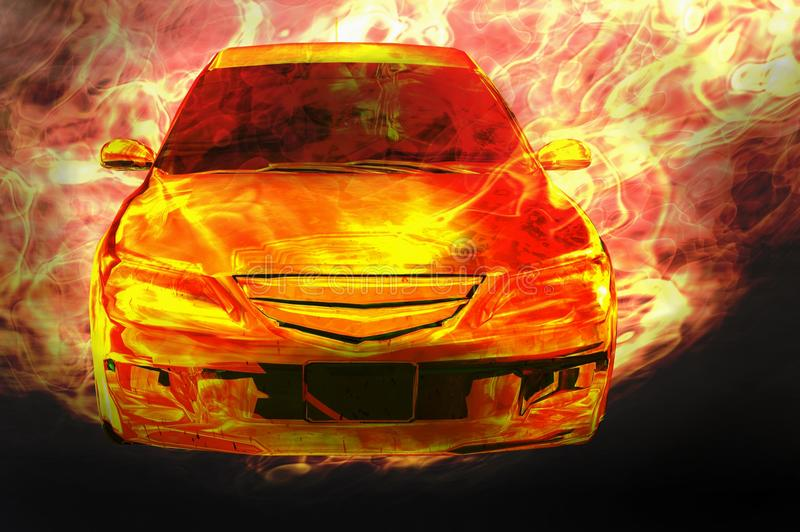 Download Fire car stock photo. Image of illustration, high, ignite - 18112256