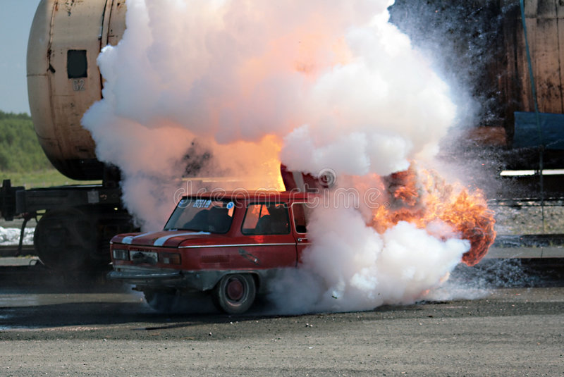 Download Fire Car Stock Image - Image: 5763981