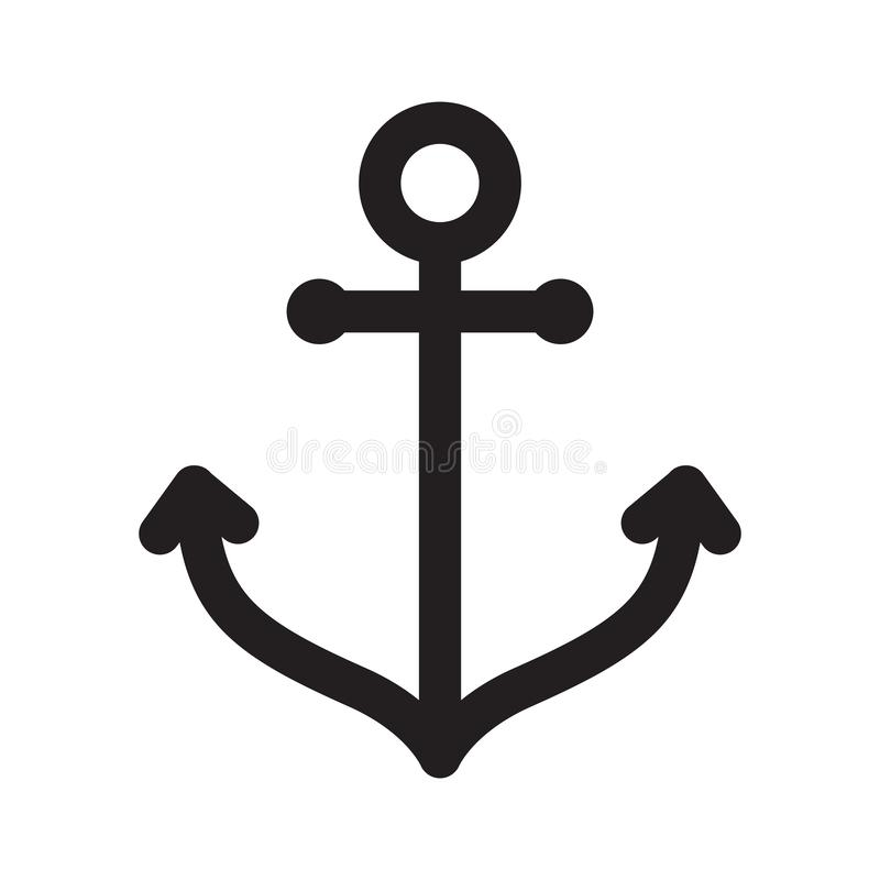 Anchor vector icon boat logo symbol pirate helm Nautical maritime illustration graphic simple line design stock illustration
