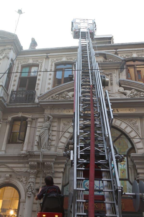 Fire at Cicek Pasaji royalty free stock photos