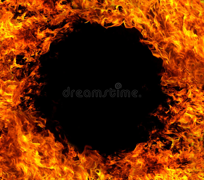 Fire circle stock images