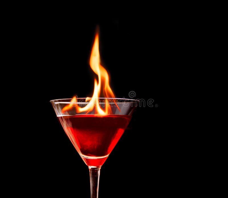 Fire Cocktail Stock Photos