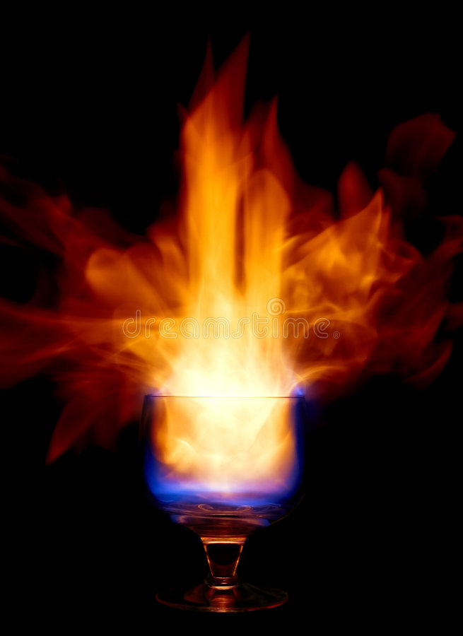 Fire coctail stock photos