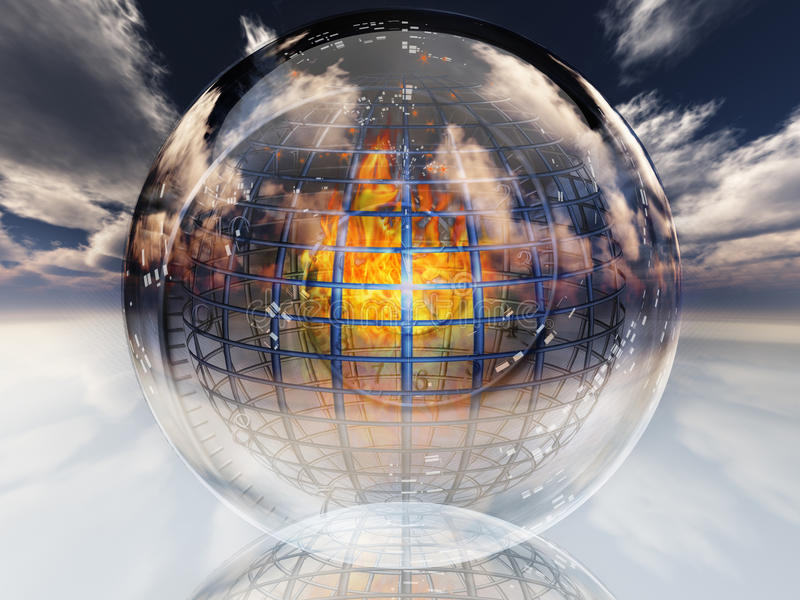 Fire Contained In Sphere Royalty Free Stock Photos