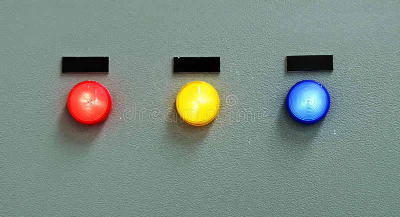 The fire control panel royalty free stock photo