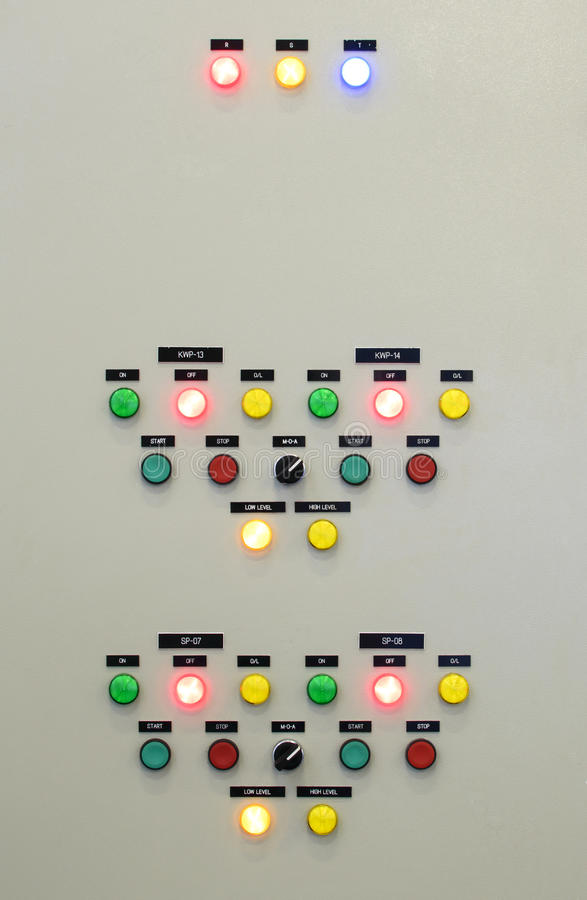 The fire control panel. Industries royalty free stock photography