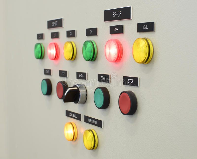 The fire control panel , Industries.  royalty free stock image