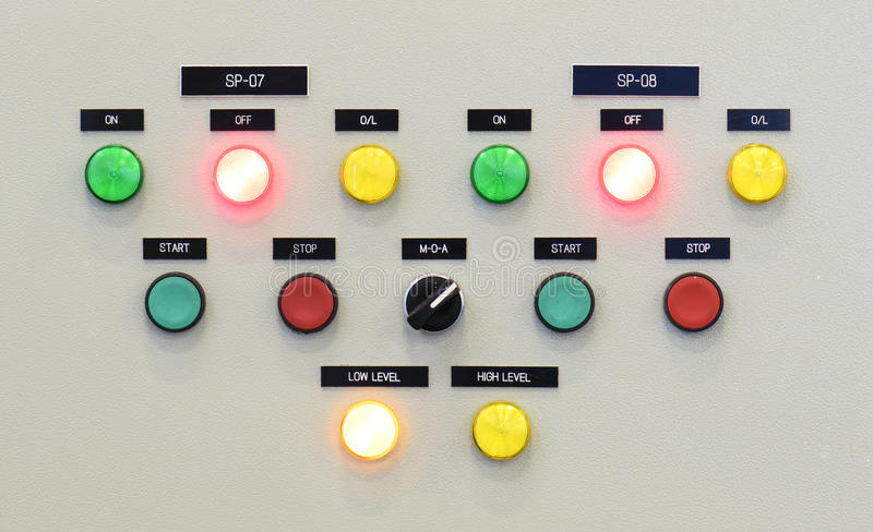 The fire control panel , Industries royalty free stock image