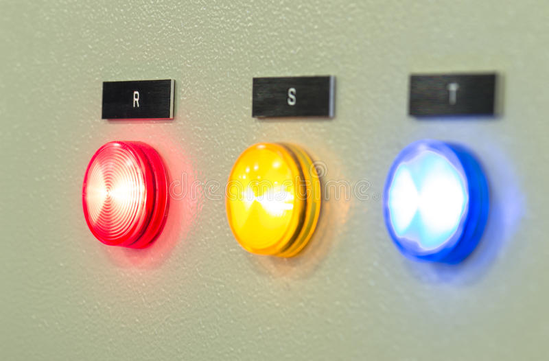 The fire control panel , Industries royalty free stock photos