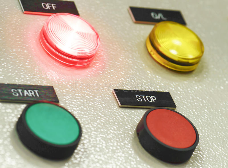 The fire control panel , Industries stock images