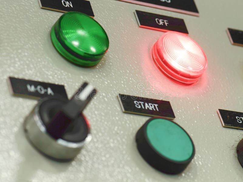The fire control panel , Industries royalty free stock images
