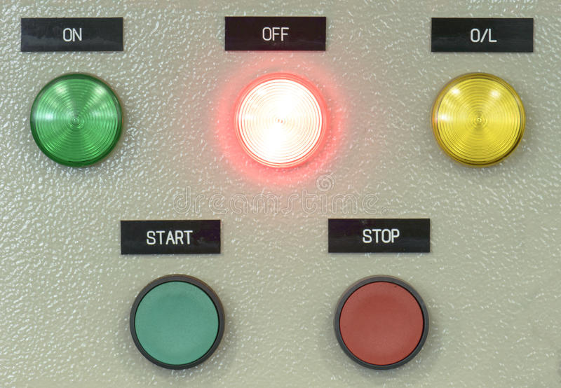 The fire control panel , Industries stock photo