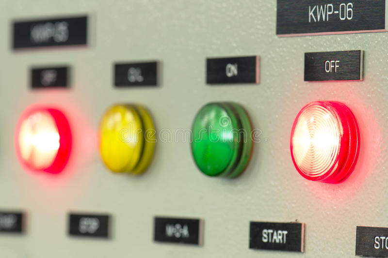 The fire control panel , Industries stock image