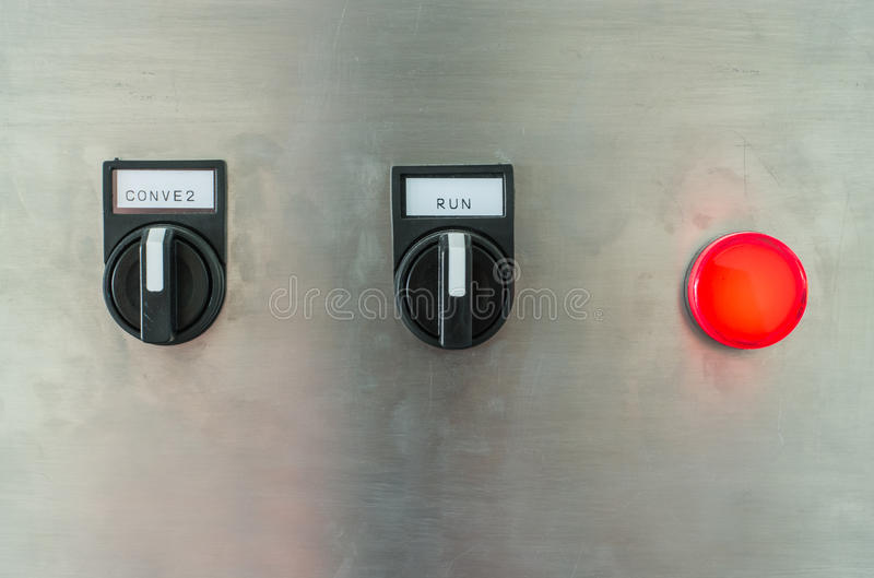 The fire control panel. And switch stock photos
