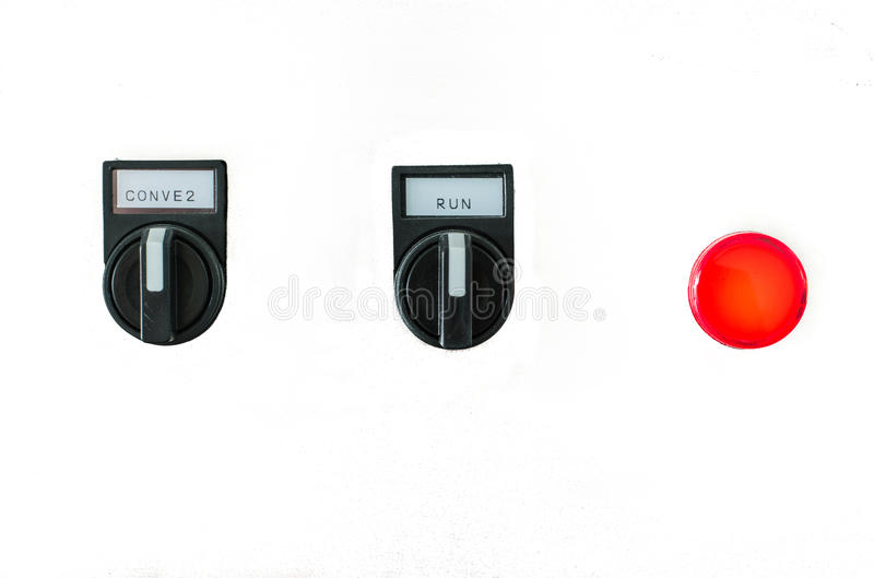 The fire control panel. On White background royalty free stock photo