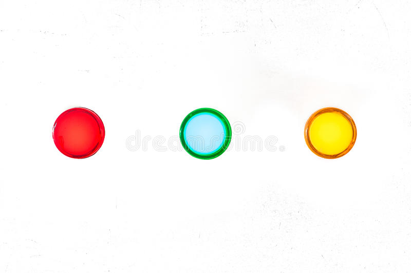 The fire control panel. On White background stock photos