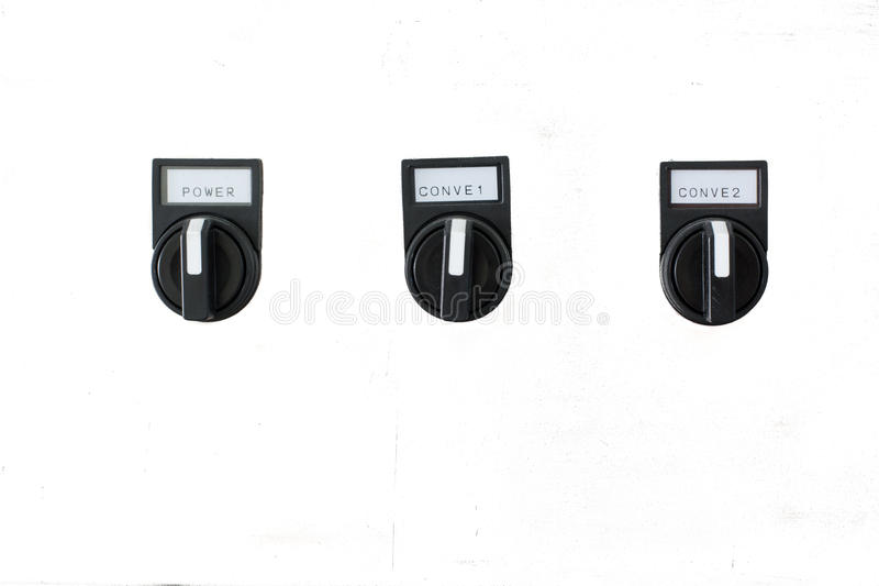 The fire control panel. On White background stock photo