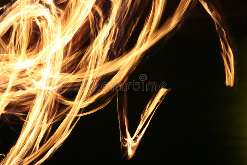 Fire-dance. Firework over a black night stock photography