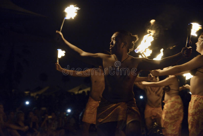 Fire dancer stock photography
