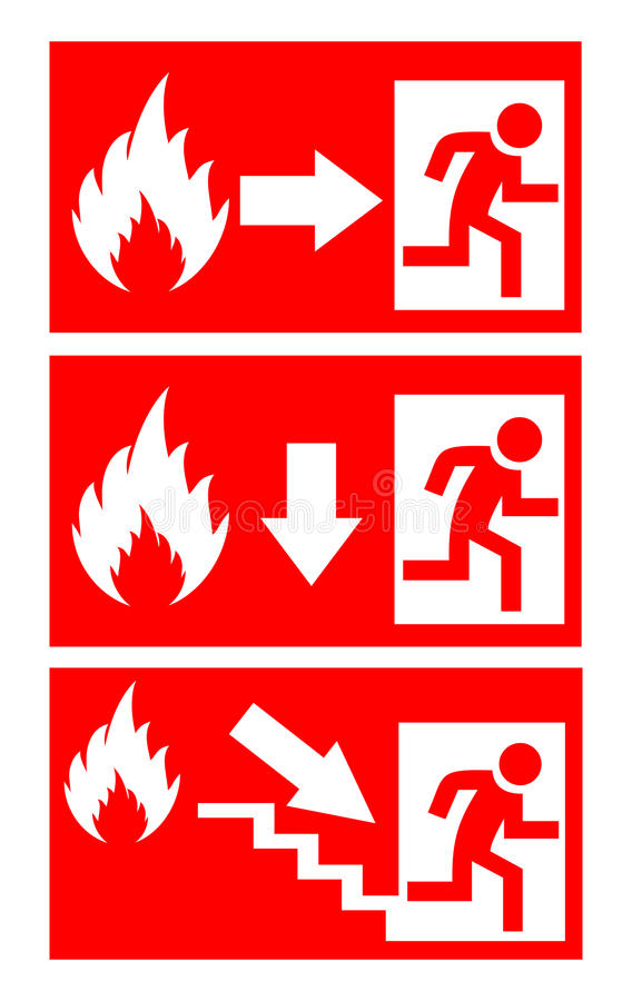 Fire danger sign stock illustration