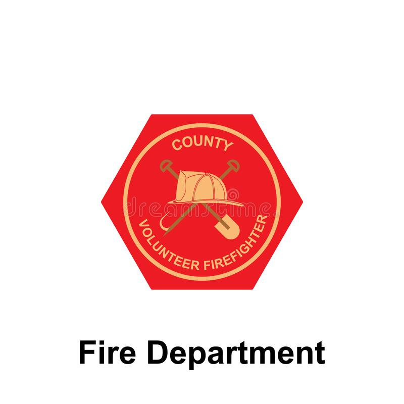 Fire Department, County icon. Element of color fire department sign icon. Premium quality graphic design icon. Signs and symbols. Collection icon for websites vector illustration