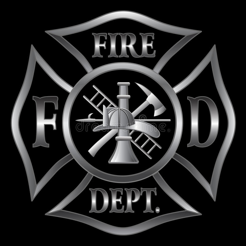 Free Fire Department Cross Silver Stock Image - 23309761