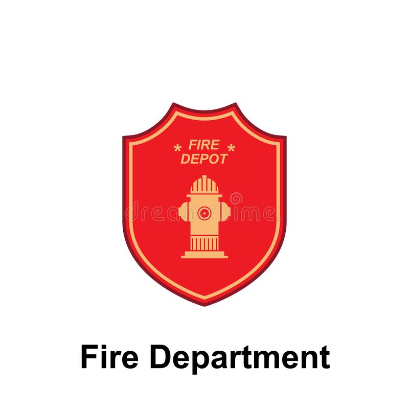 Fire Department, Fire Depot icon. Element of color fire department sign icon. Premium quality graphic design icon. Signs and. Symbols collection icon for royalty free illustration