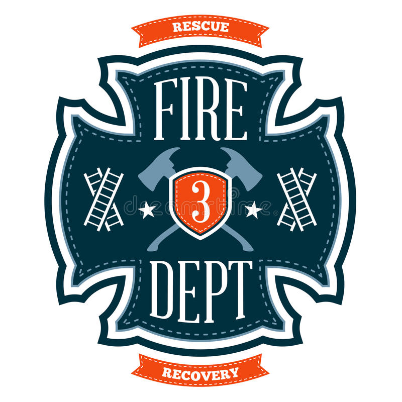 Free Fire Department Emblem Royalty Free Stock Images - 28941329