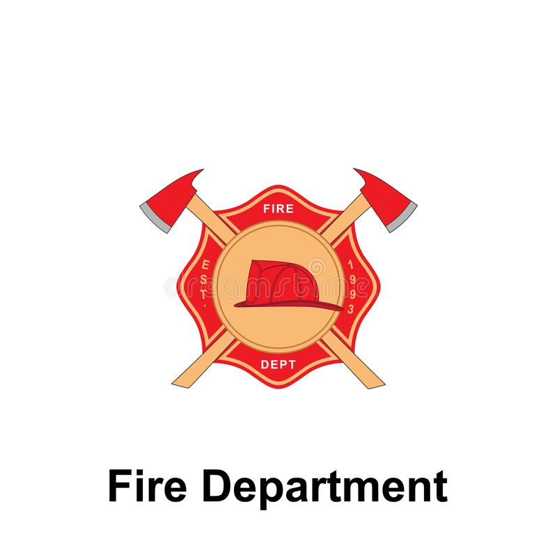 Fire Department, 1993 Est. icon. Element of color fire department sign icon. Premium quality graphic design icon. Signs and. Symbols collection icon for vector illustration