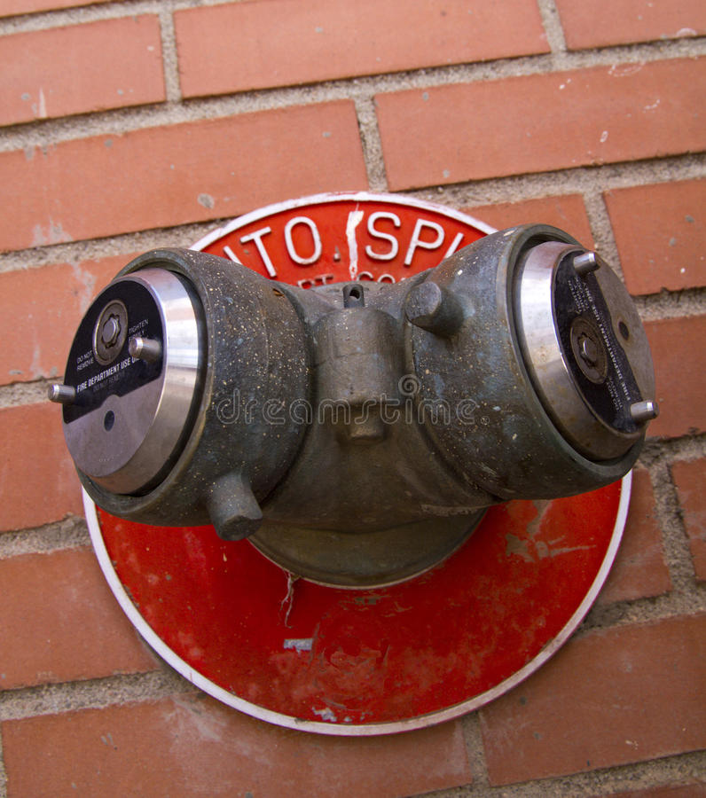 Fire Department Hook Up stock images