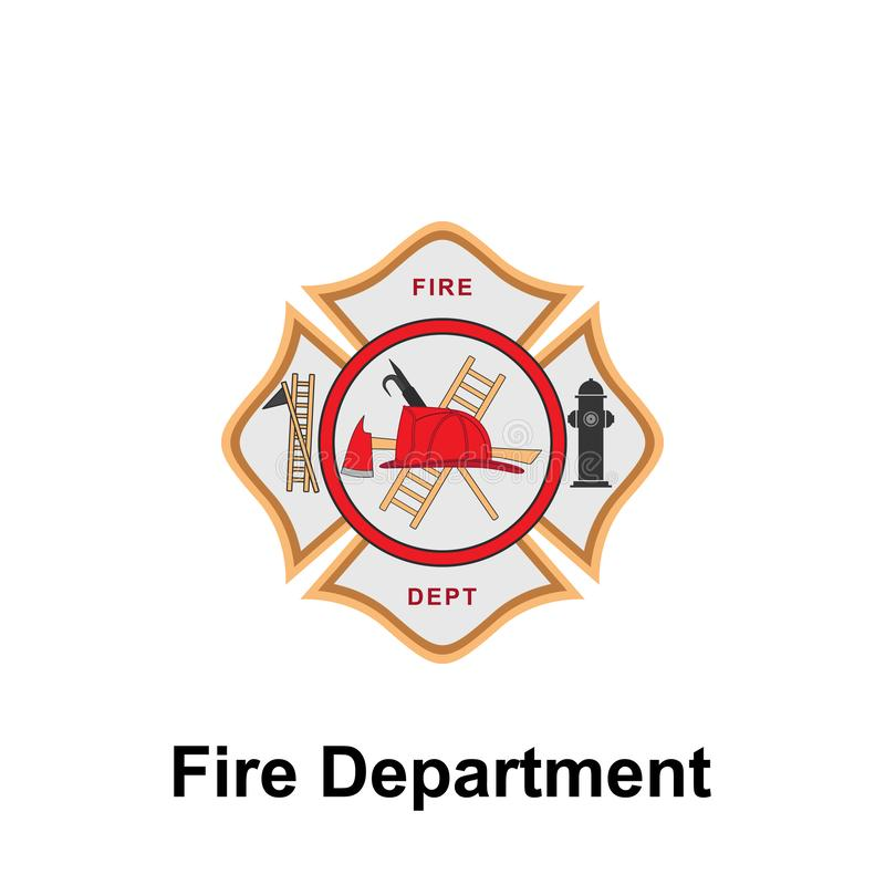 Fire Department icon. Element of color fire department sign icon. Premium quality graphic design icon. Signs and symbols. Collection icon for websites on white vector illustration