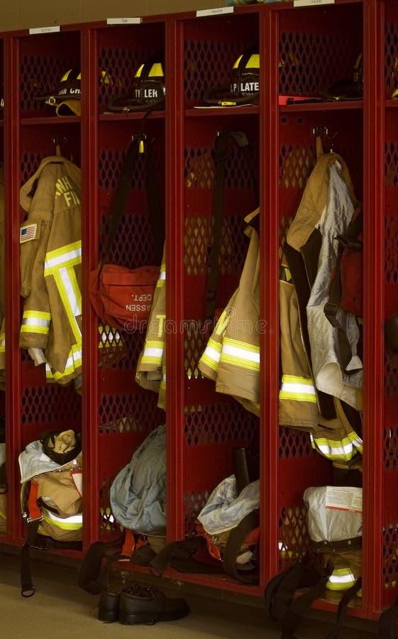Fire Department Lockers stock photos