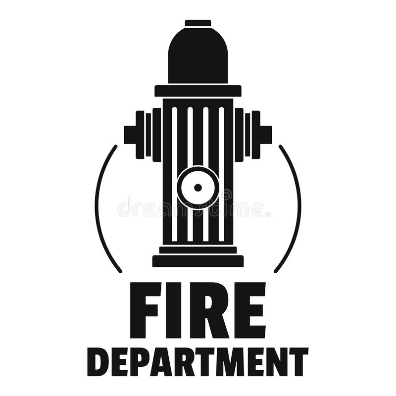 Fire department logo, simple style vector illustration