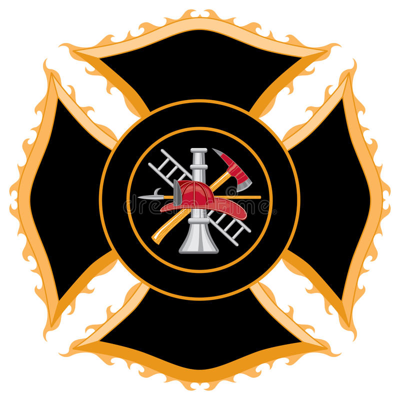 Download Fire Department Maltese Cross Symbol Royalty Free Stock Photo - Image: 18826365