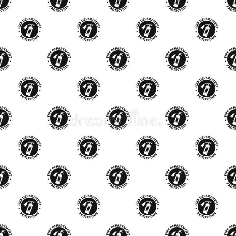 Fire department protection pattern seamless vector stock illustration