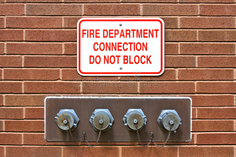 Download Fire Department Standpipe Connection Stock Photo - Image: 15778140