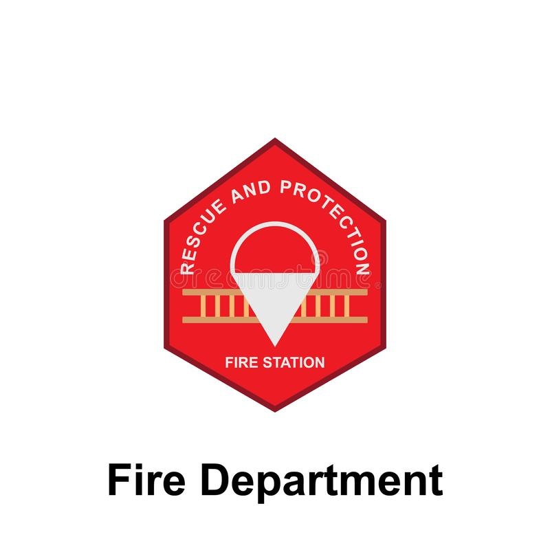 Fire Department, Fire Station icon. Element of color fire department sign icon. Premium quality graphic design icon. Signs and. Symbols collection icon for royalty free illustration