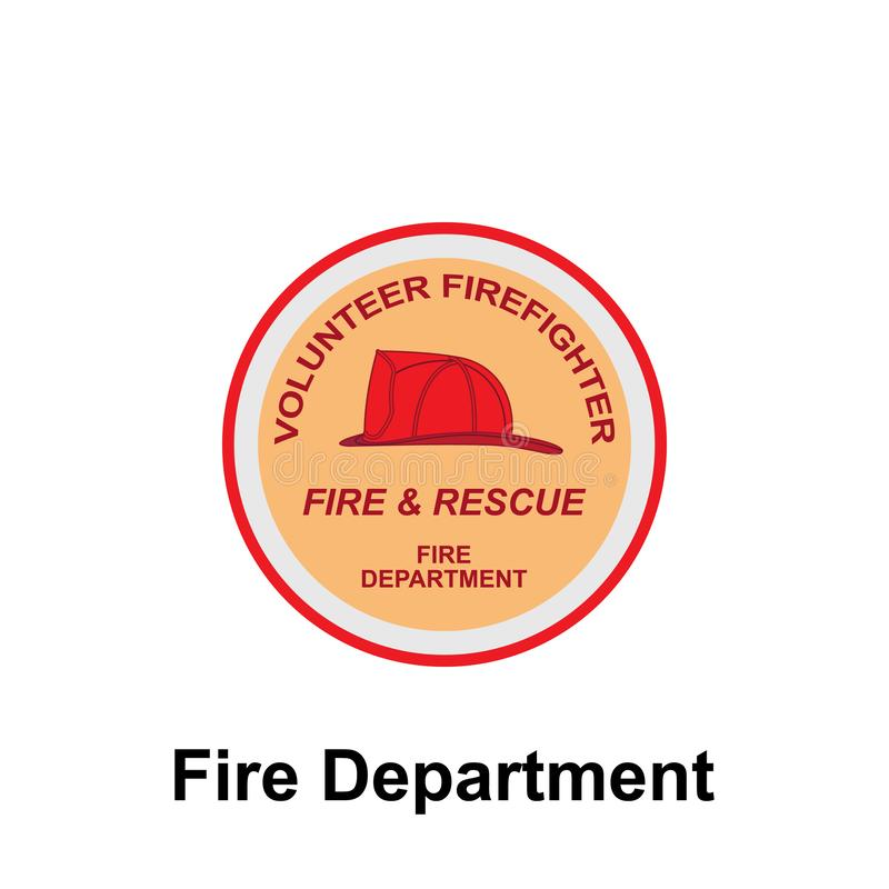Fire Department, Volunteer Firefighter icon. Element of color fire department sign icon. Premium quality graphic design icon. Signs and symbols collection icon vector illustration