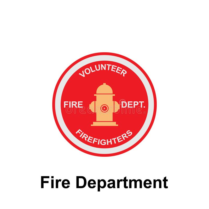 Fire Department, Volunteer Firefighter icon. Element of color fire department sign icon. Premium quality graphic design icon. Signs and symbols collection icon royalty free illustration