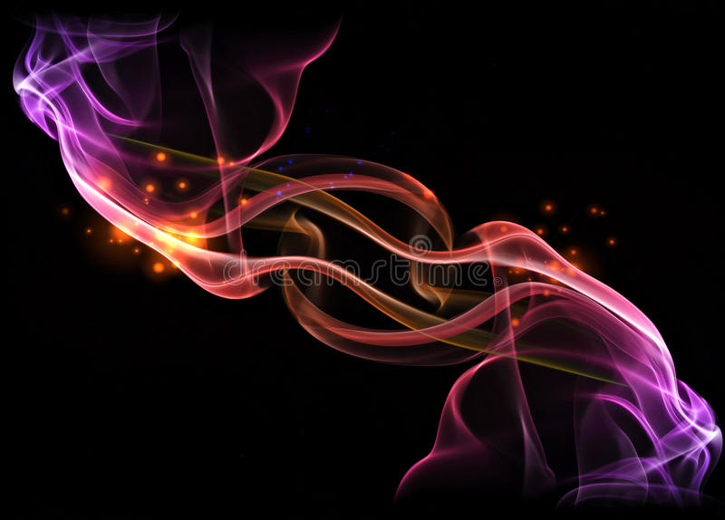 Fire design. Purple and red fire design stock photos